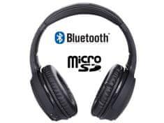 Trevi X-DJ 1301 BT, brezžične bluetooth slušalke, črne