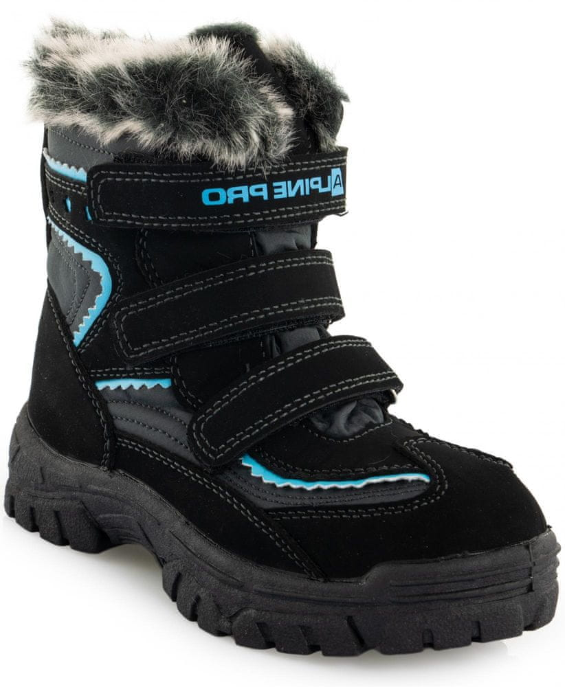 ALPINE PRO chlapecké zimní boty Ento 29 černá/modrá