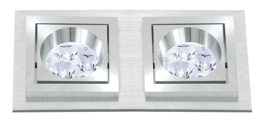 BPM BPM Vstavané svietidlo Aluminio Plata, kartáčovaný hliník 2x50W, 230V 4783 3067GU