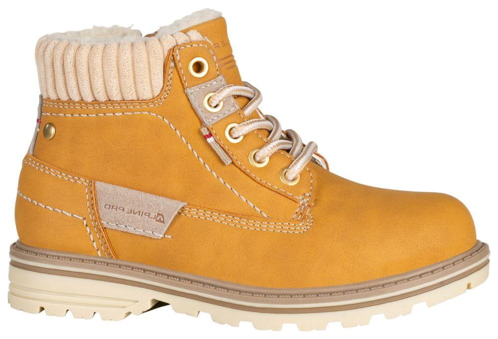 ALPINE PRO dětská obuv Newhaleno 33 okrová