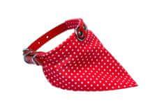 BAFPET Pika ovratnica + bombažna rutka, rdeča, 30 cm