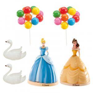 Dekora Figurka na dort princezny, labutě a balónky