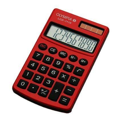 Olympia kalkulator LCD-1110, rdeč