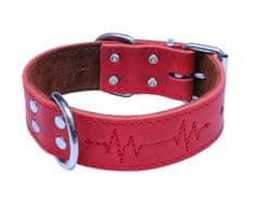 BAFPET Obojok EKG, mastná koža 55 cm červená - rozbalené