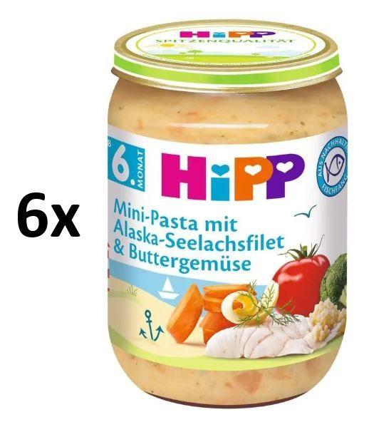 HiPP Těstoviny s aljašskou treskou v máslové zelenině 6 x 190g