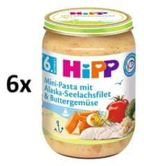 HiPP Cestoviny s aljašskou treskou v maslovej zelenine 6 x 190g