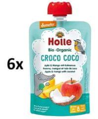 Holle Bio Croco Coco 100% ovocné pyré jablko-mango-kokos - 6 x 100 g