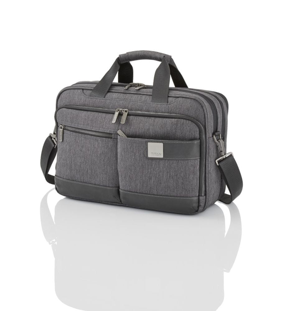 Titan Luggage Power Pack Laptop Bag S Anthracite