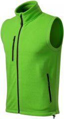 Malfini Jablkovo zelená pánska fleecová vesta kontrastná