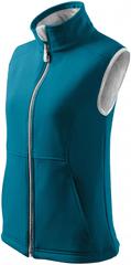 Malfini Tmavě tyrkysová dámská softshellová vesta