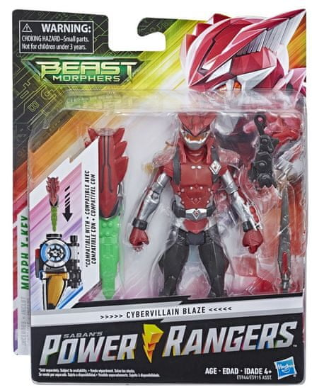 Hasbro Power Rangers osnovna figura Cybervillain, 15 cm