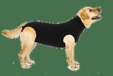 Suitical Pooperačné ochranné oblečenie pre psa čierne
