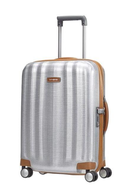 Samsonite Kabinový cestovní kufr Lite-Cube DLX Spinner 82V 36,5 l stříbrná