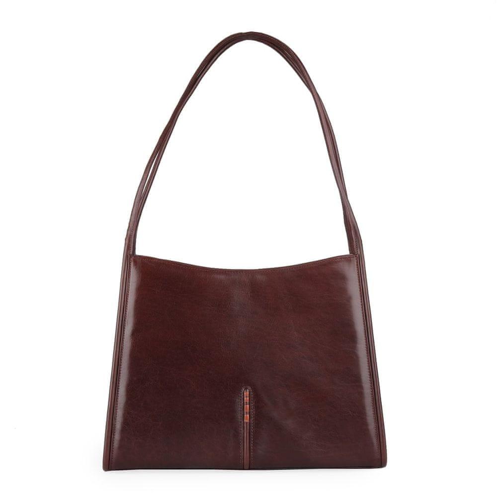Hajn Dámská kožená kabelka přes rameno 1135014 hnědá