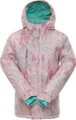ALPINE PRO Dívčí zimní bunda 104-110 růžová