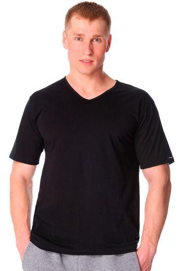 Cornette Pánské tričko 201 new black - CORNETTE