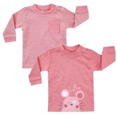 BOLEY dívčí set 2ks triček 62 - 68 růžová