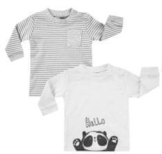 BOLEY zestaw koszulek dziecięcych 2 szt. 74 - 80 biały