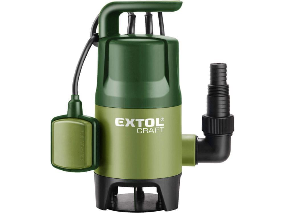 Extol Craft Čerpadlo na znečištěnou vodu, 400W, 7500l/hod, 10m