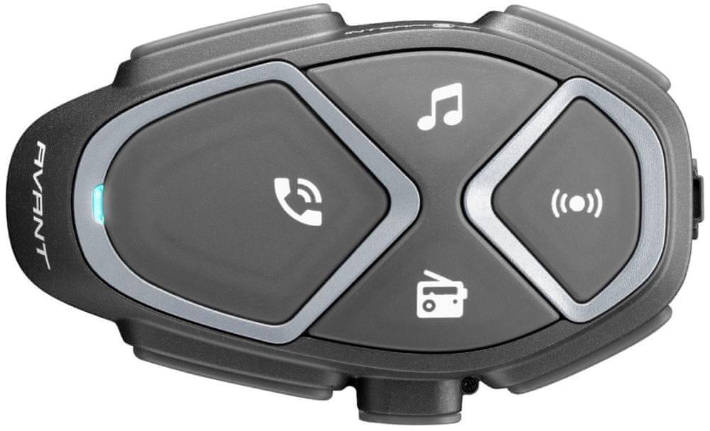 CellularLine Interphone AVANT Bluetooth Handsfree pro přilby, Single Pack INTERPHOAVANT