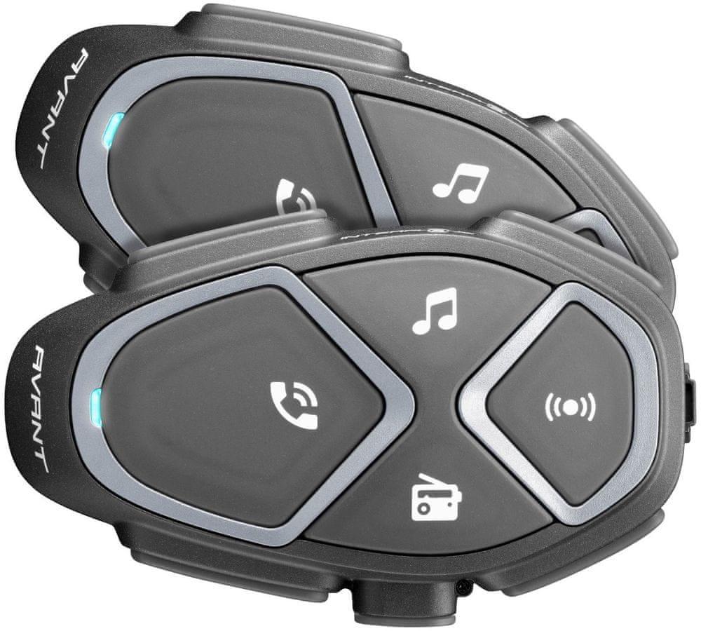 CellularLine Interphone AVANT Bluetooth Handsfree pro přilby, Twin Pack INTERPHOAVANTTP
