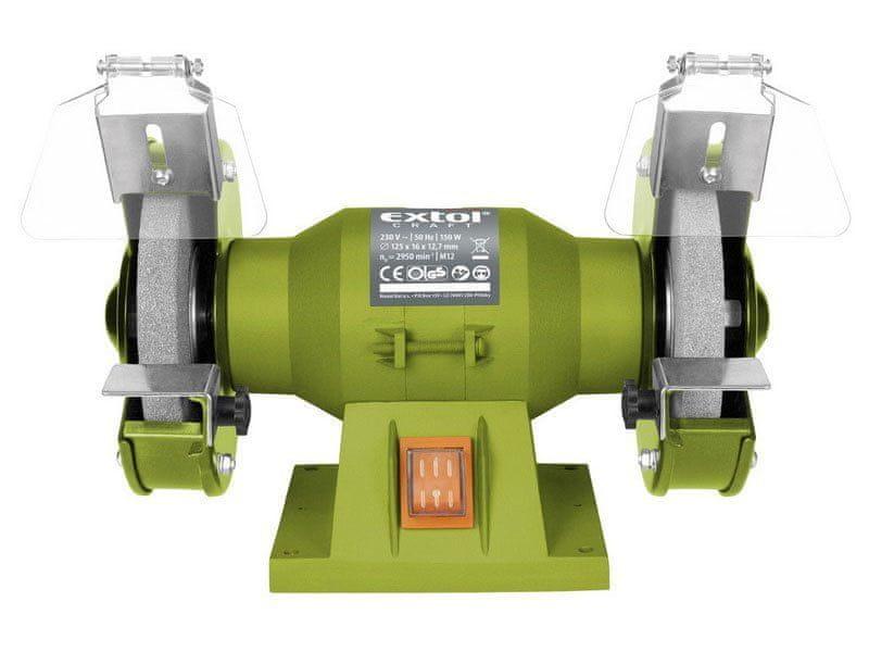 Extol Craft Bruska stolní dvoukotoučová, 150W, 125x12,7x š.16mm