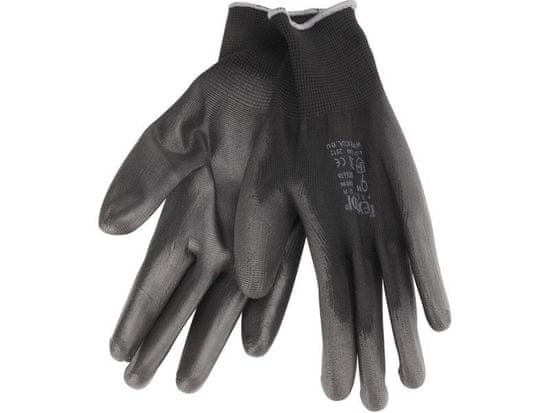 """Extol Premium Rukavice z polyesteru polomáčené v PU, černé, velikost 9"""""""