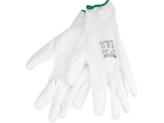 """Extol Premium Rukavice z polyesteru polomáčené v PU, bílé, velikost 11"""""""