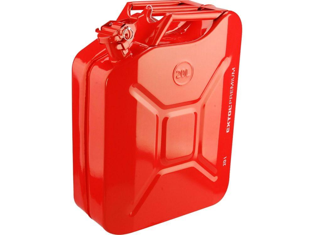 Extol Premium Kanystr ocelový na benzín, 20l