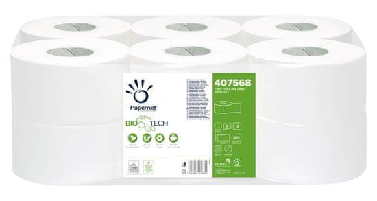 Papernet Ecolabel Biotech Mini Jumbo biorazgradljiv toaletni papir, 2-slojni, 12 rolic