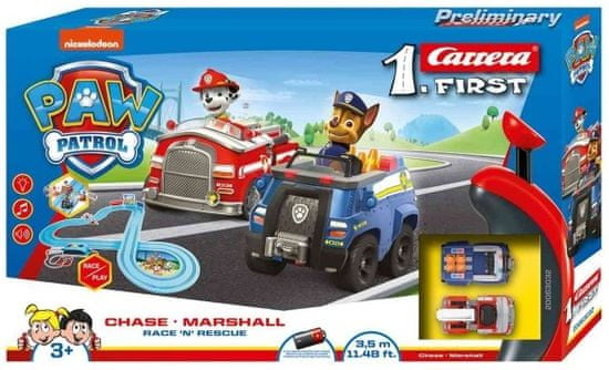 Carrera Autodráha FIRST - 63032 PAW Patrol Chase a Marshall Race N Rescue