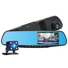 M-Tech avto snemalnik DVR, v ogledalu