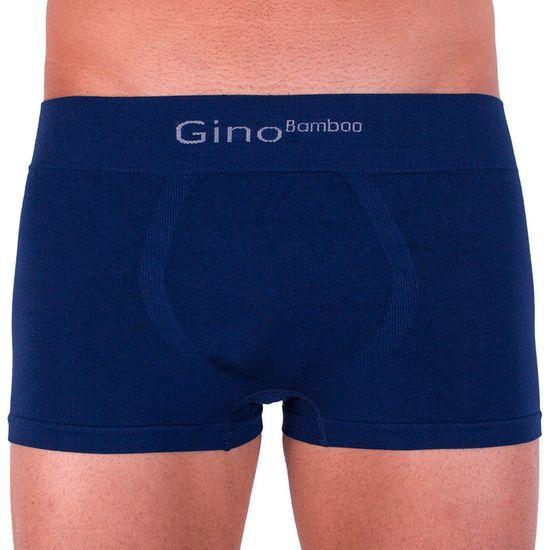 Gino Pánské boxerky bezešvé bambusové modré (53004)