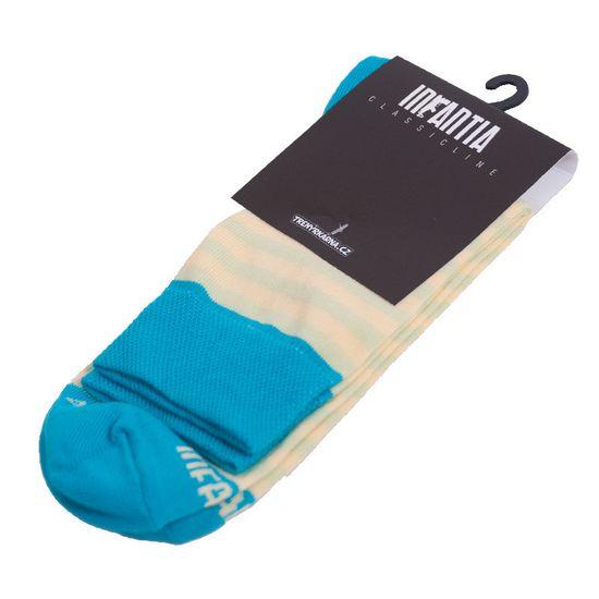Infantia Ponožky Classicline světle modro žluté proužky