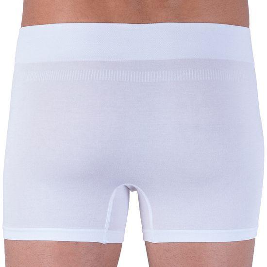 Gino Pánské boxerky bezešvé bambusové bílé (54005)