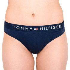 Tommy Hilfiger Dámská tanga tmavě modrá (UW0UW01555 416) - velikost S