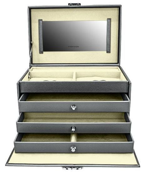 Friedrich Lederwaren Škatla za nakit siva / smetana Jolie 23256-91