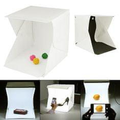 Captor prenosni foto studio z LED osvetlitvijo, 20x20x20 cm
