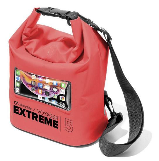 CellularLine Extreme vodonepropusna torbica, 5 l, crvena