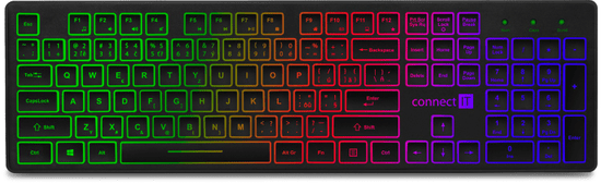 Connect IT podsvietená klávesnica, CZ / SK (CKB-4040-CS)