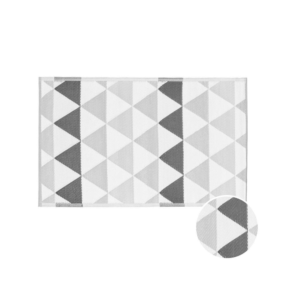Butlers Vnitřní a venkovní koberec trojúhelníky 150 x 90 cm - tm. šedá