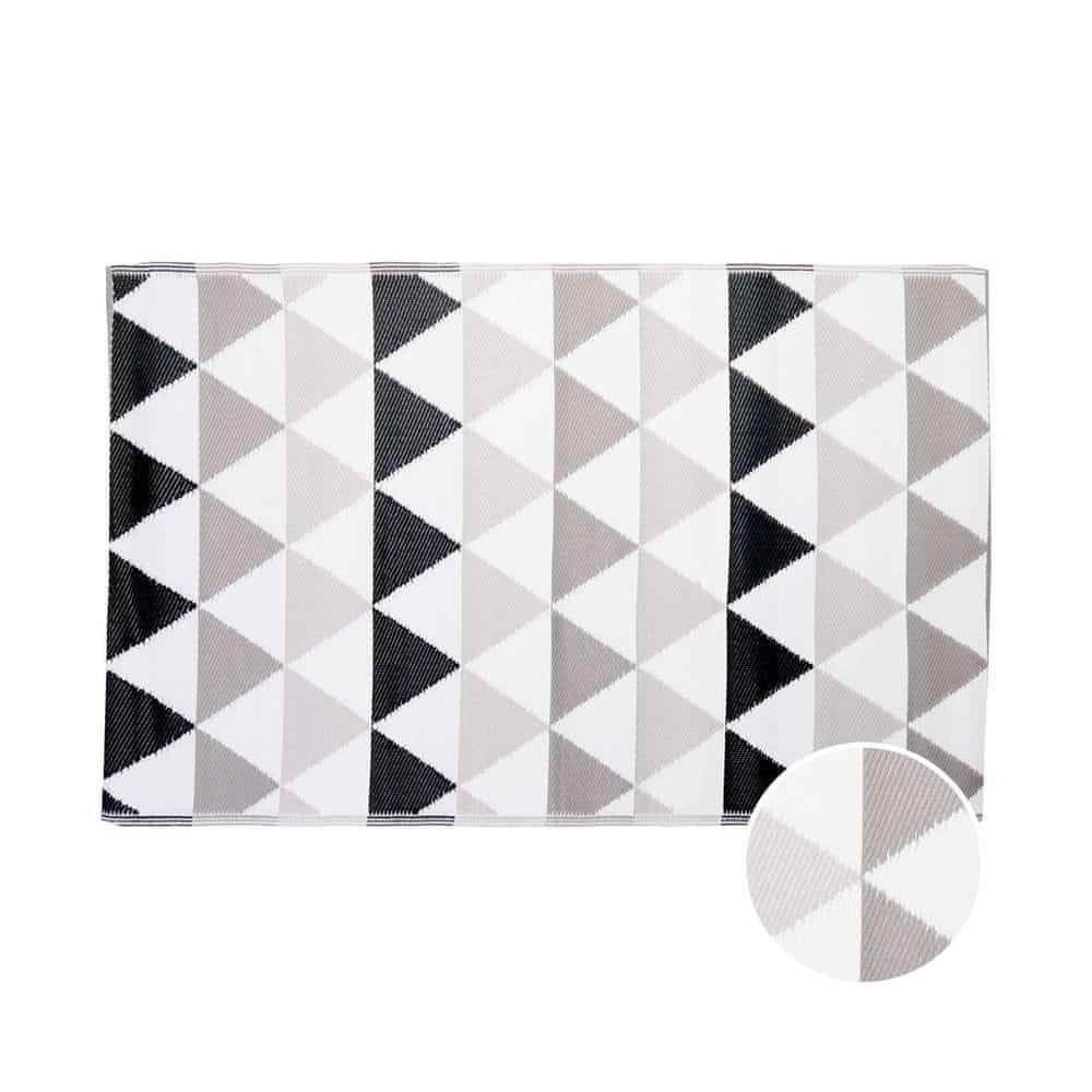 Butlers Vnitřní a venkovní koberec trojúhelníky 180 x 120 cm - šedá