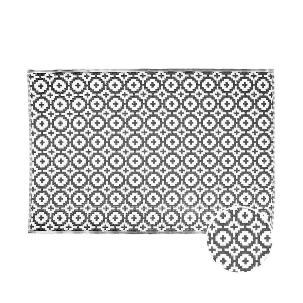Butlers Venkovní koberec mozaika 180 x 120 cm - černá/bílá