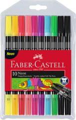 Faber-Castell flomasteri, obostrani Neon 10/1
