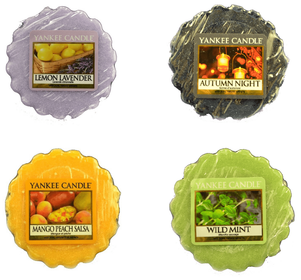 Yankee Candle Sada vonných vosků 4 ks Lemon Lavender / Autumn Night / Mango Peach Salsa / Wild Mint