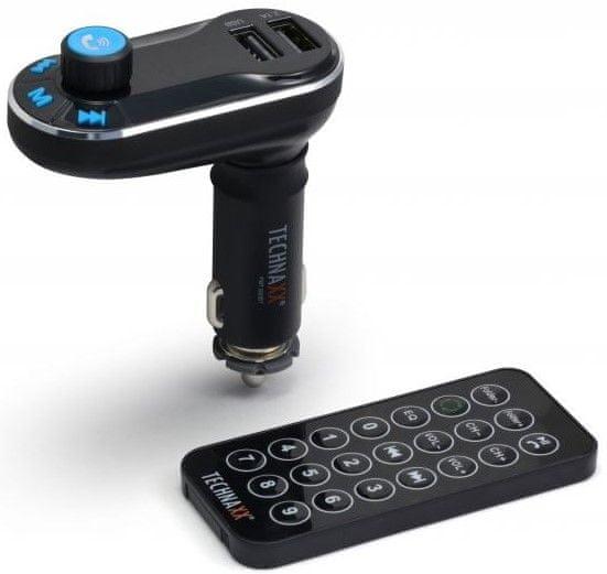 Technaxx FM transmitter + MP3 přehrávač + Bluetooth, LCD display (FMT600BT) 4539