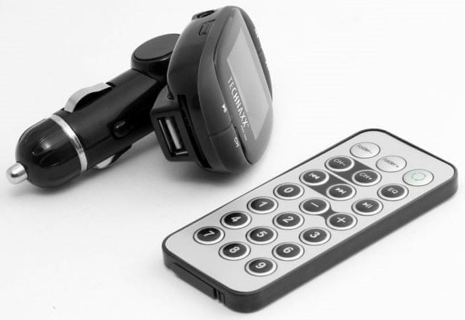 Technaxx FM transmitter + MP3 přehrávač, LCD display (FMT500) 4483