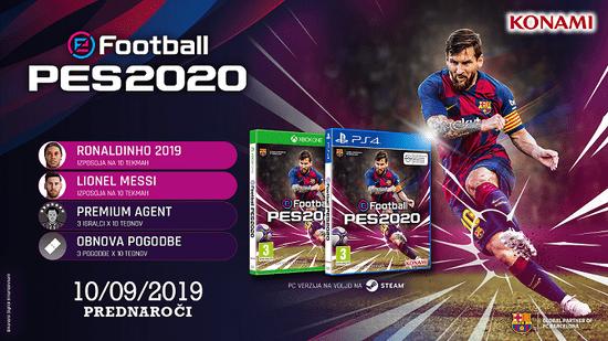 Konami eFootball PES 2020 igra (PS4)