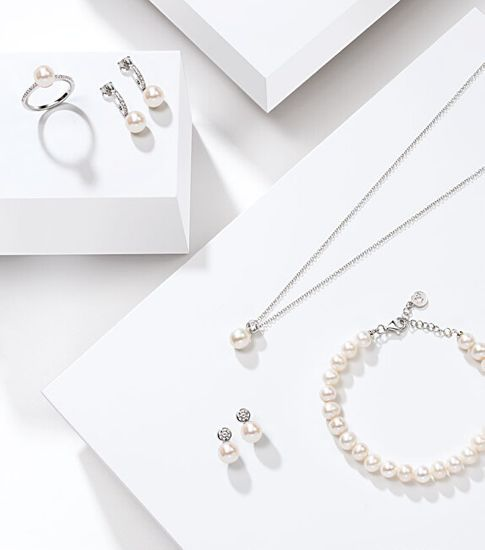 Morellato Strieborná sada šperkov s perlami Perla essenziale SANH09 (náušnice, retiazka, prívesok)