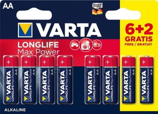 VARTA Batéria Longlife Max Power 6+2 AA 4706101448